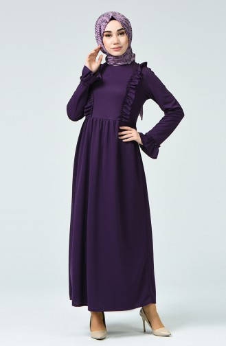 Frilled Dress 1424-02 Purple 1424-02
