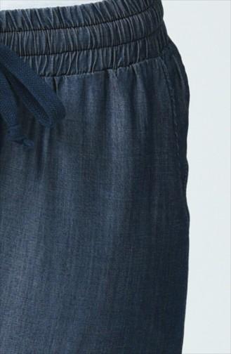 Double Paça Tensel Pantolon 2005-01 Lacivert