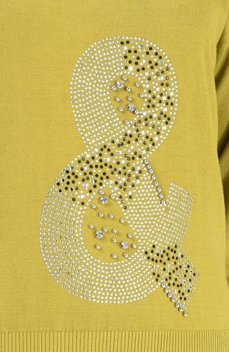 Pull Tricot Perlés 0581-01 Vert Pistache 0581-01