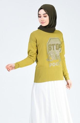 Pistaziengrün Pullover 0583-02