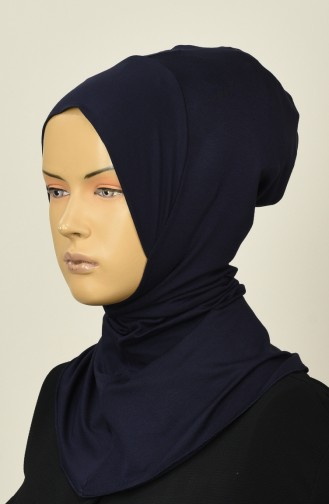 Gekämmte Hijab-Bonnet 13142-11 Dunkelblau 13142-11