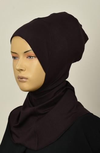 Gekämmte Hijab-Bonnet 13142-17 Braun 13142-17