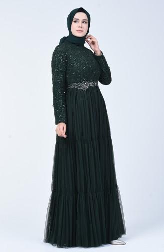 Green İslamitische Avondjurk 52769-03