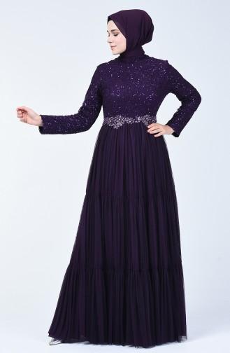 Purple İslamitische Avondjurk 52769-05