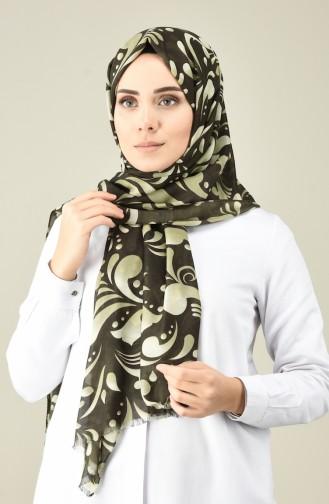Châle Coton à Motifs 26050-10 Khaki 26050-10