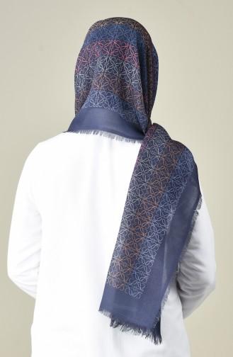 Karaca Châle Coton à Motifs 90663-10 Bleu Marine Bleu 90663-10