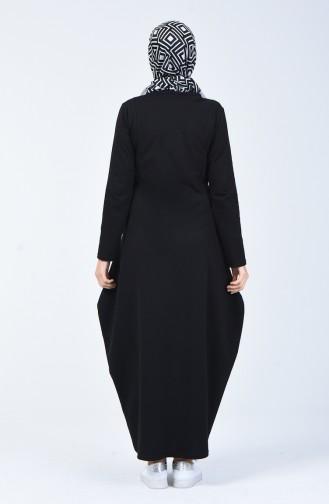 Robe Avec Poche  3132-02 Noir 3132-02