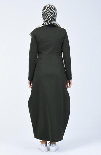 Khaki Hijab Dress 3132-04