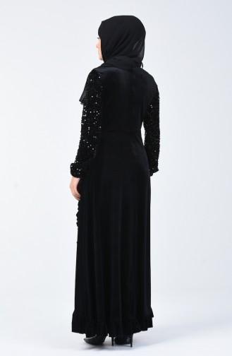 Black İslamitische Avondjurk 5105-01