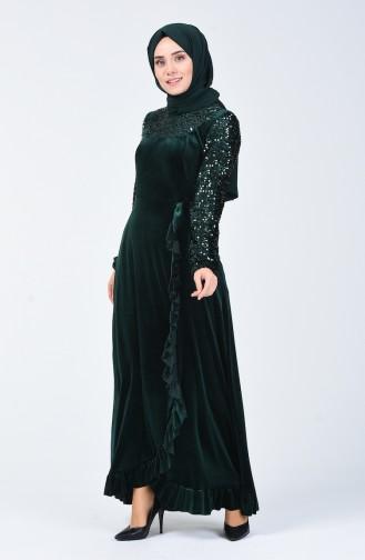 Habillé Hijab Vert emeraude 5105-02