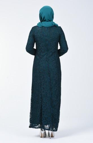 Büyük Beden Abiye Elbise 2055-03 Yeşil 2055-03