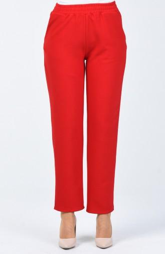 Pantalon Taille Élastique 1305PNT-02 Rouge 1305PNT-02