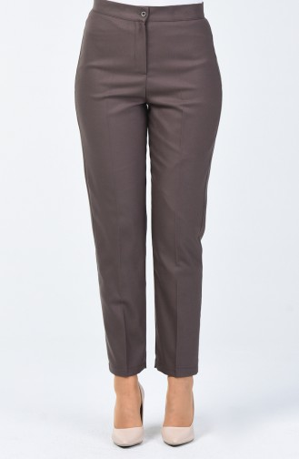 Pantalon à  Bouton 1115-03 Vison Foncé 1115-03