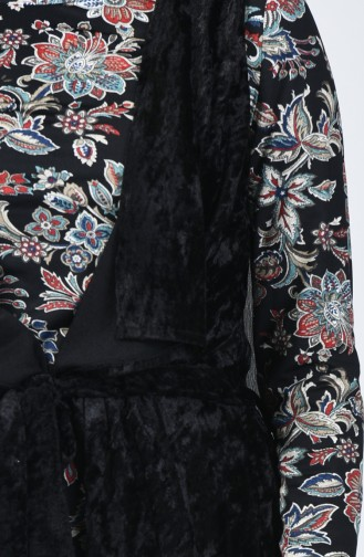 Ensemble Deux Pieces Blouse Gilet Sans Manches 3020-01 Noir 3020-01