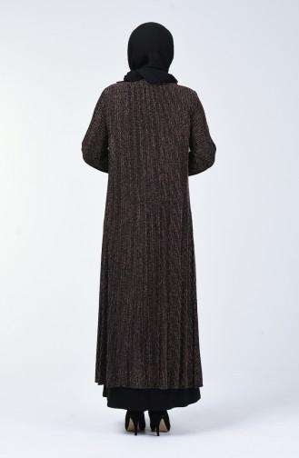 Grosse Grösse Abendkleid mit Halskette Detailliert 1074-01 Kupfer 1074-01