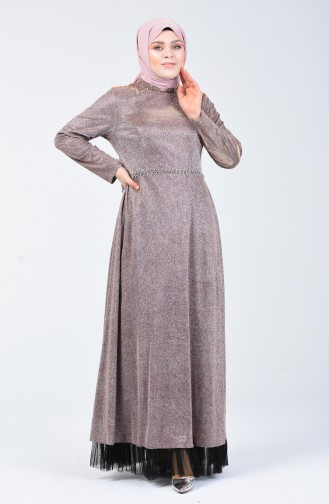 Puder Hijab-Abendkleider 9018-01