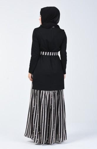 Kemerli Elbise 50772A-01 Siyah