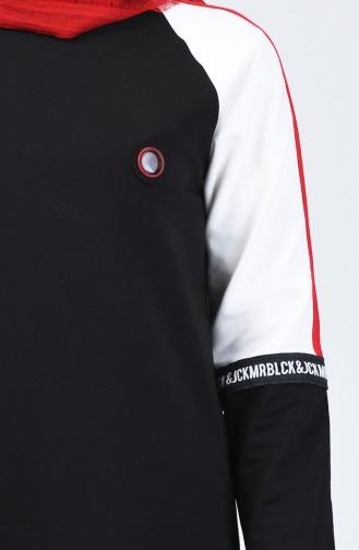 Reglan Kol Eşofman Takım 8041-01 Siyah