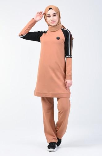 Reglan Kol Eşofman Takım 8041-04 Tarçın Renk