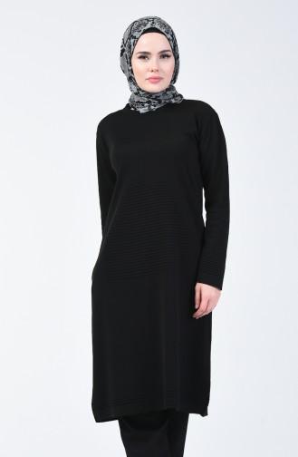 Triko Uzun Kazak 4192-07 Siyah