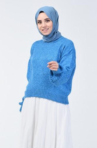 Triko Simli Kazak 3036-04 Koyu Mavi