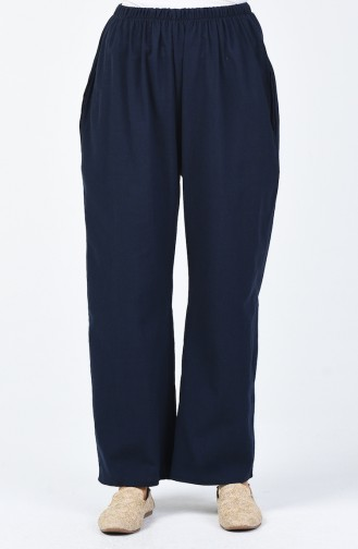 Pantalon Large 0021-03 Bleu Marine 0021-03