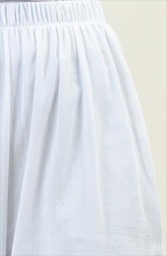 Pantalon Large 0021-05 Blanc 0021-05