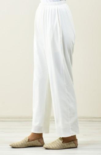 Pantalon Large 0021-06 Crème 0021-06