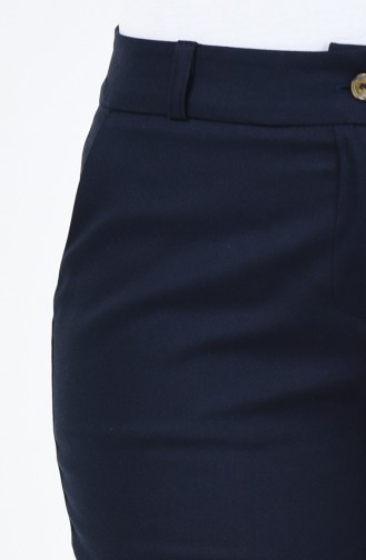 Cepli Klasik Düz Paça Pantolon 1368PNT-01 Lacivert