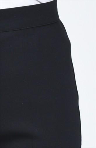Pantalon à  Bouton 1115-01 Noir 1115-01