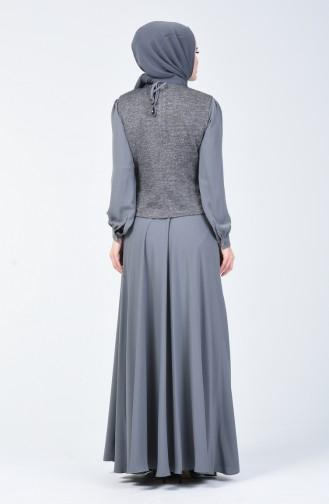 Silberner Kleid Anzug 50672-01 Dunkel Grau 50672-01