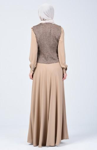 Silvery Dress Suit Beige 50672-02