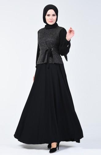 Simli Elbise Takım 50672-03 Siyah