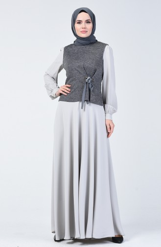 Ensemble Robe à Paillettes 50672-04 Gris 50672-04