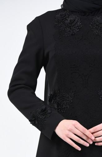 Robe de Soirée en Dentelle 50528-02 Noir 50528-02