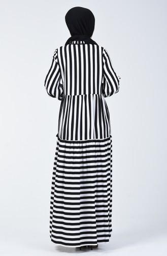 Robe a Rayures 40848-01 Noir 40848-01
