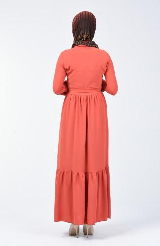 Ziegelrot Hijap Kleider 0064-01