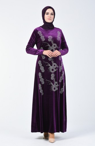 Purple İslamitische Jurk 19803-04
