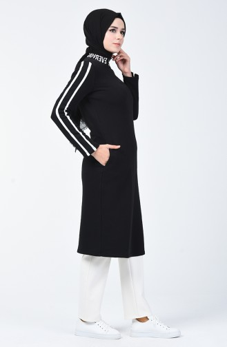 Striped Sports Tunic Black 50750-01