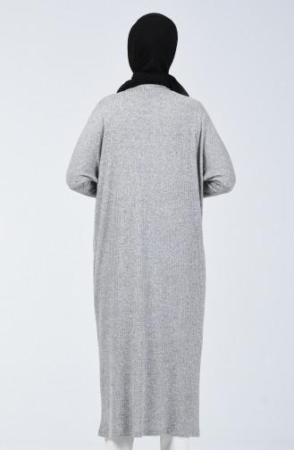 Yarasa Kol Uzun Tunik 7979-01 Gri