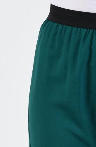 بنطال أخضر زمردي 6434-02