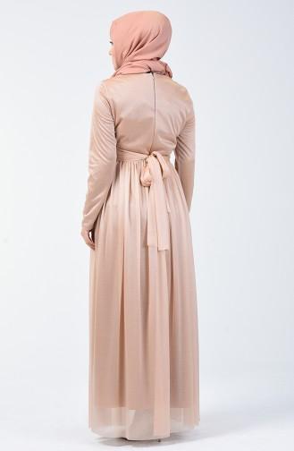 Robe de Soirée à Paillettes 0246-04 Vison 0246-04