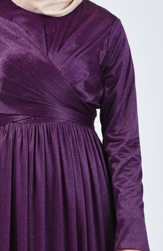 Robe de Soirée à Paillettes 0246-05 Pourpre 0246-05