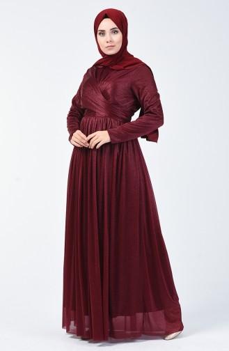 Robe de Soirée à Paillettes 0246-06 Plum 0246-06