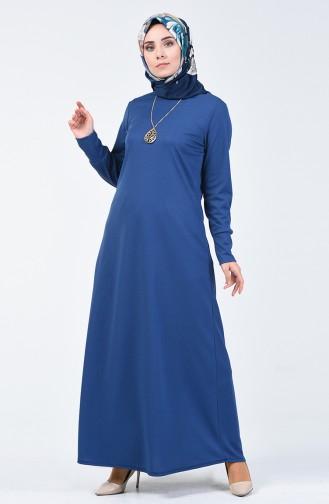 Robe avec Collier 0025-02 İndigo 0025-02