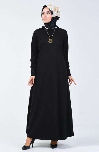 Robe avec Collier 0025-04 Noir 0025-04