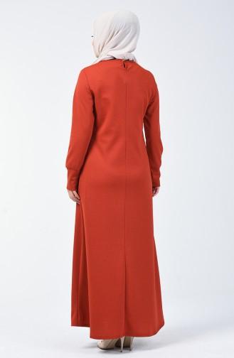Kolyeli Elbise 0025-05 Kiremit