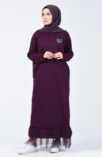 Purple Hijab Dress 4170-01