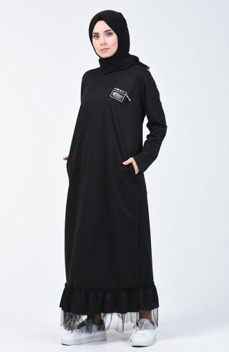 Black İslamitische Jurk 4170-03