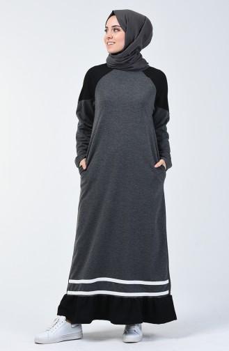Anthracite Hijab Dress 4101-01